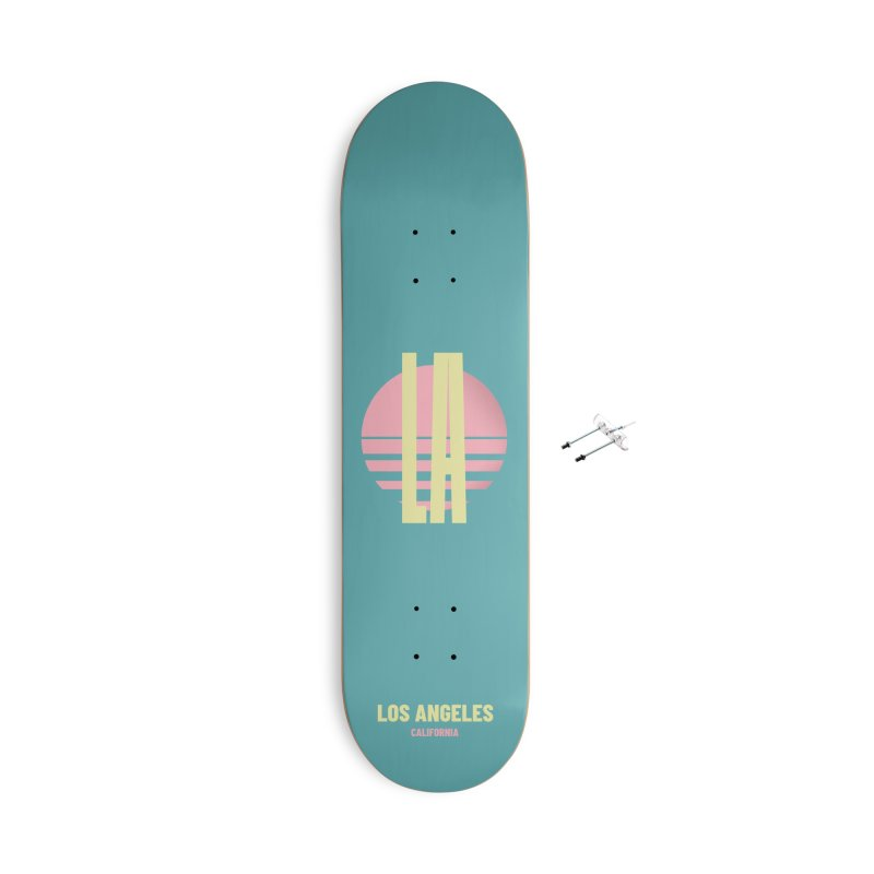 LA Los Angeles California sunset Accessories With Hanging Hardware Skateboard by virbia's Artist Shop