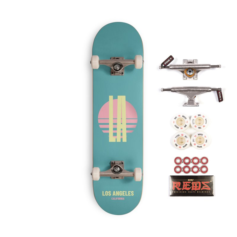 LA Los Angeles California sunset Accessories Complete - Pro Skateboard by virbia's Artist Shop
