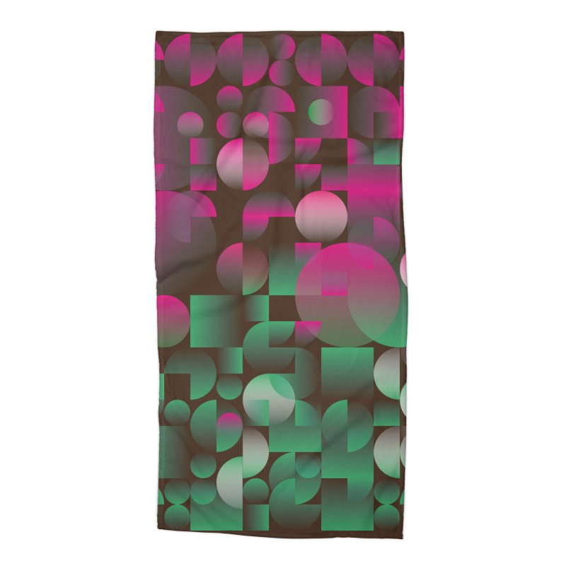 Winter geometric pattern Accessories Beach Towel by virbia's Artist Shop