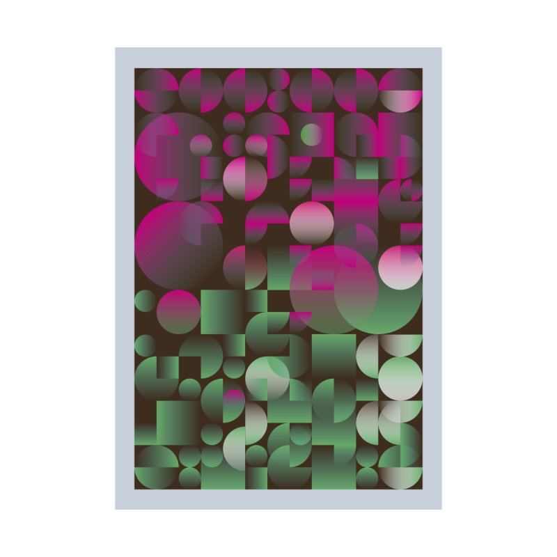 Winter geometric pattern Home Fine Art Print by virbia's Artist Shop