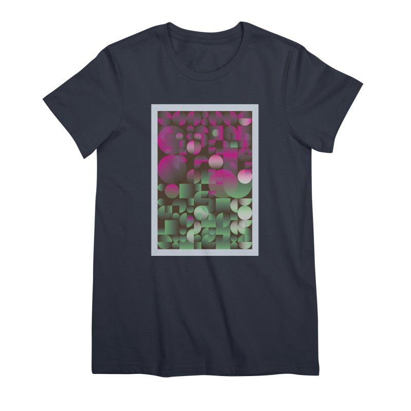 Winter geometric pattern Women's Premium T-Shirt by virbia's Artist Shop
