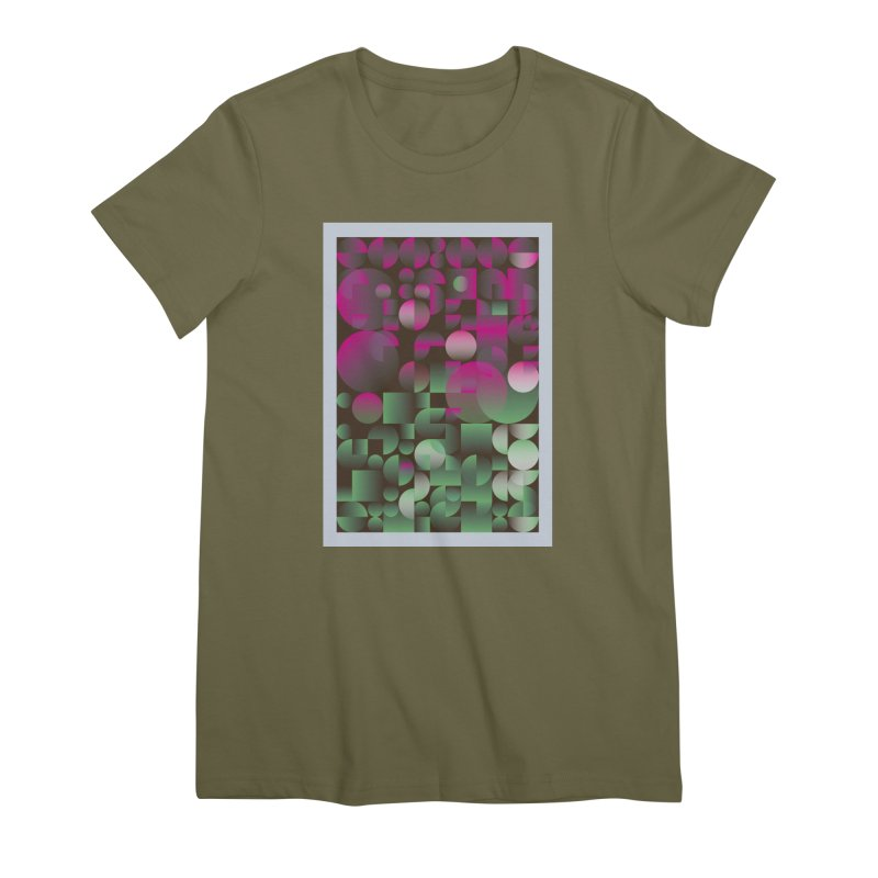 Winter geometric pattern Women's Premium T-Shirt by virbia's Artist Shop