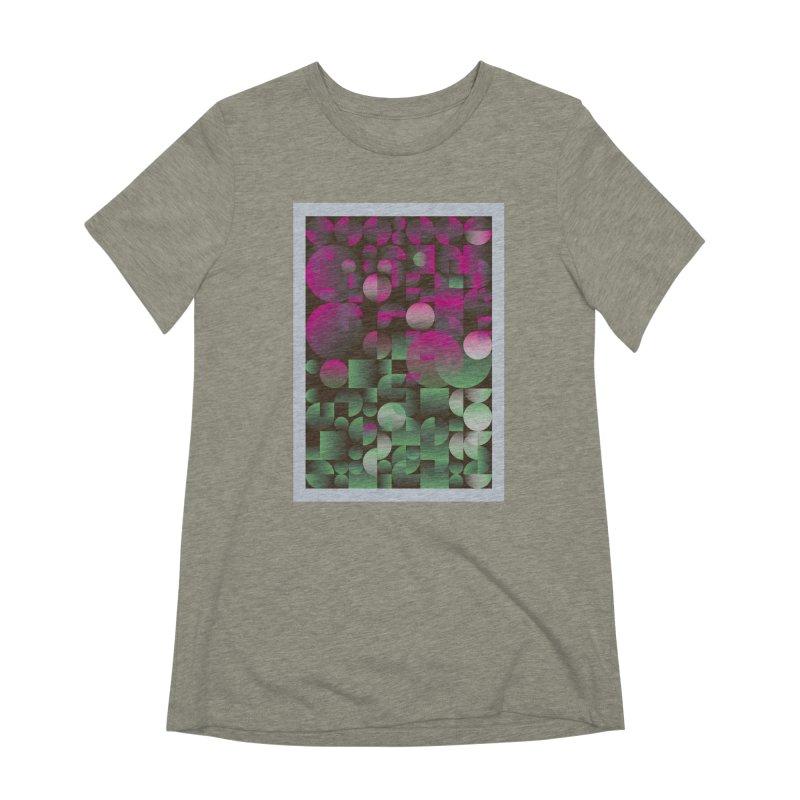 Winter geometric pattern Women's Extra Soft T-Shirt by virbia's Artist Shop