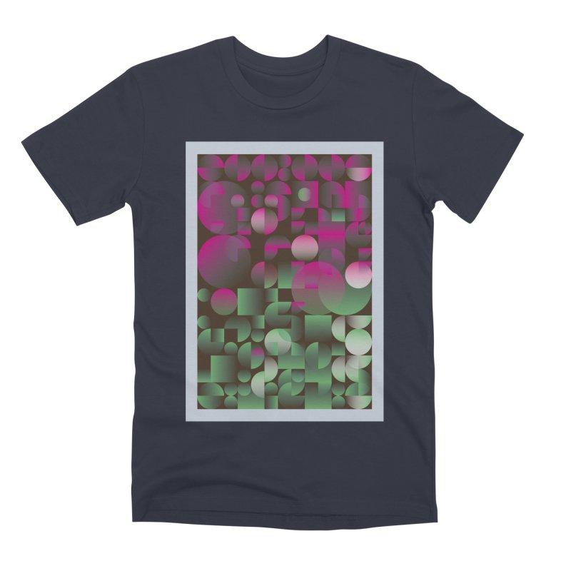 Winter geometric pattern Men's Premium T-Shirt by virbia's Artist Shop