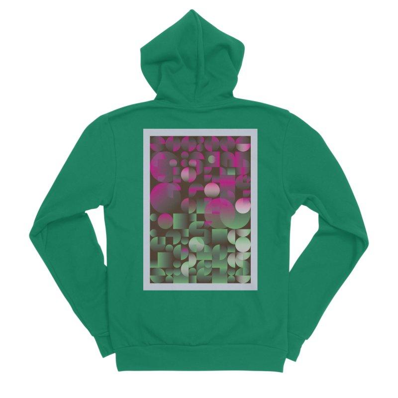 Winter geometric pattern Women's Sponge Fleece Zip-Up Hoody by virbia's Artist Shop