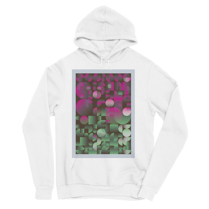 Winter geometric pattern Men's Sponge Fleece Pullover Hoody by virbia's Artist Shop