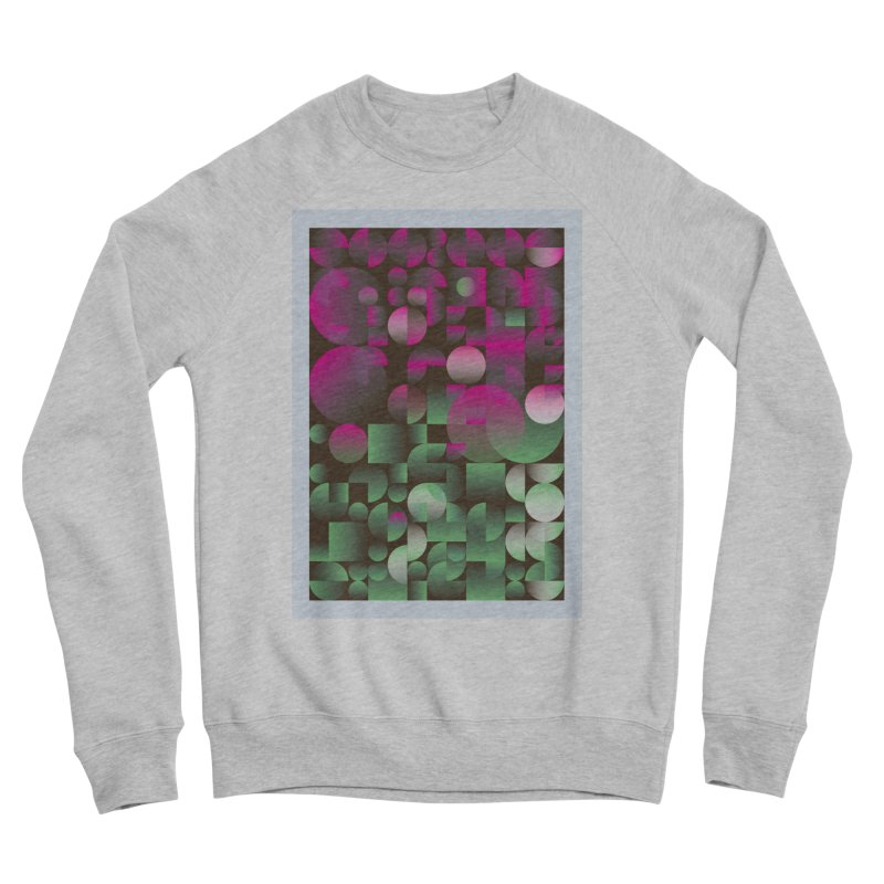 Winter geometric pattern Women's Sponge Fleece Sweatshirt by virbia's Artist Shop