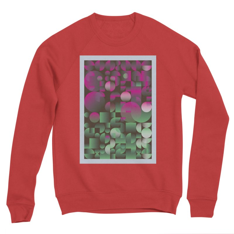 Winter geometric pattern Men's Sponge Fleece Sweatshirt by virbia's Artist Shop