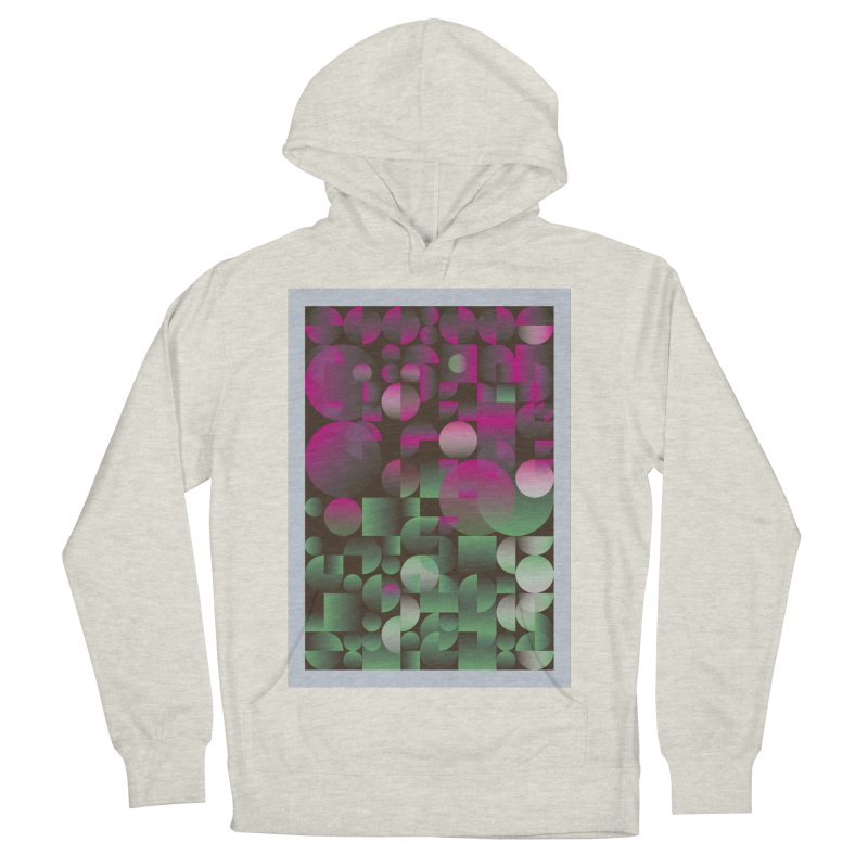 Winter geometric pattern Women's French Terry Pullover Hoody by virbia's Artist Shop