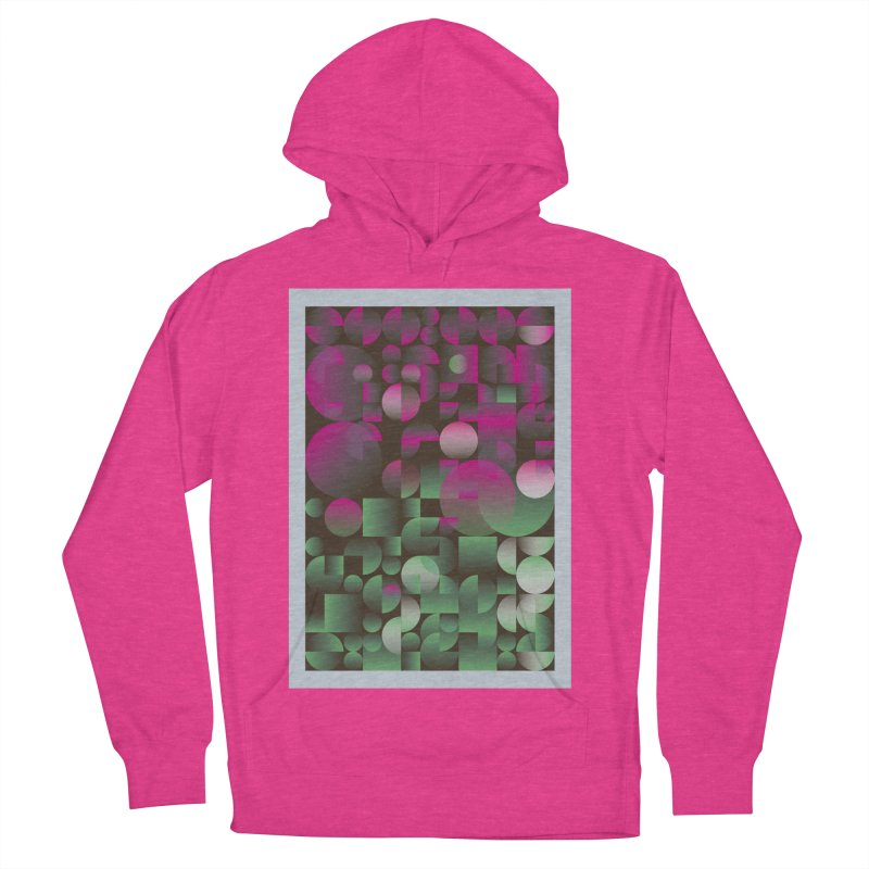 Winter geometric pattern Men's French Terry Pullover Hoody by virbia's Artist Shop