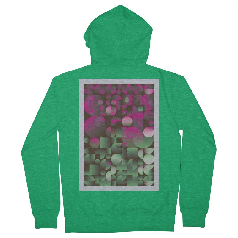 Winter geometric pattern Women's Zip-Up Hoody by virbia's Artist Shop