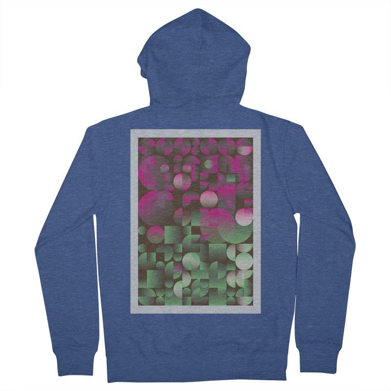Winter geometric pattern Women's Zip-Up Hoody by virbia's Artist Shop