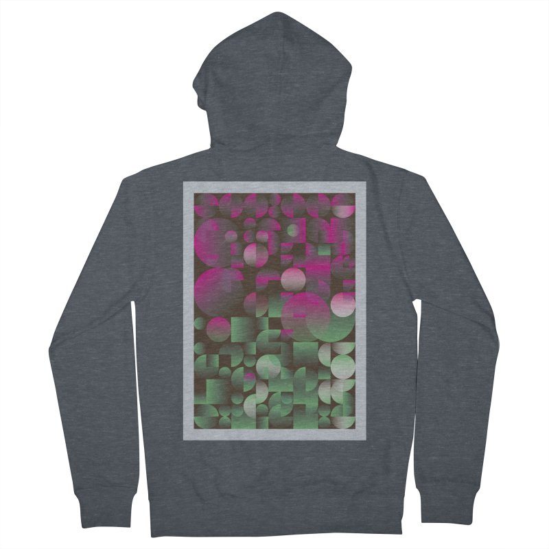 Winter geometric pattern Women's French Terry Zip-Up Hoody by virbia's Artist Shop