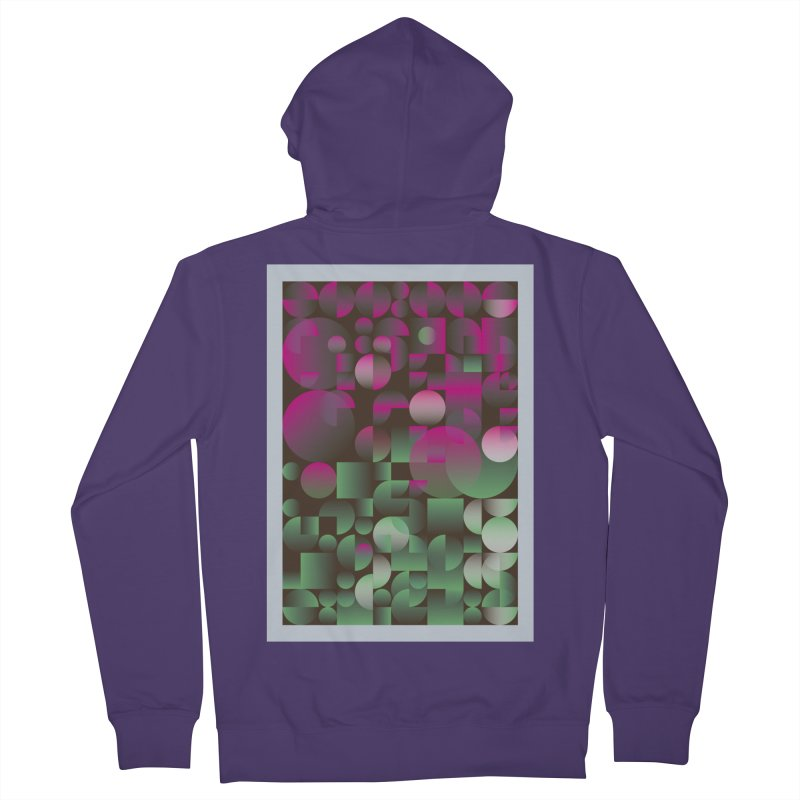 Winter geometric pattern Women's French Terry Zip-Up Hoody by virbia's Artist Shop