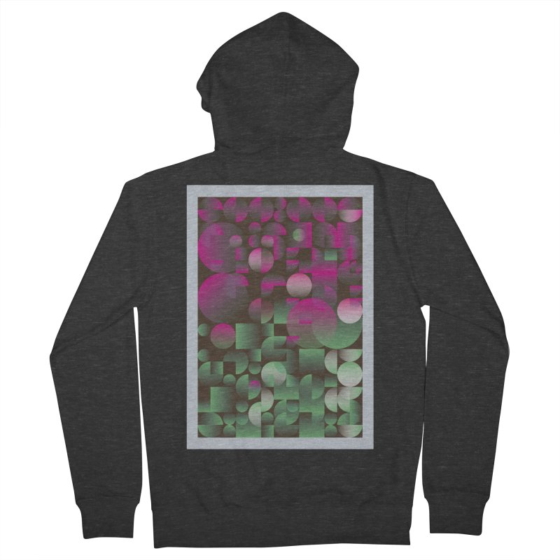 Winter geometric pattern Men's French Terry Zip-Up Hoody by virbia's Artist Shop