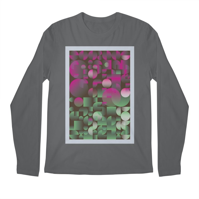 Winter geometric pattern Men's Longsleeve T-Shirt by virbia's Artist Shop