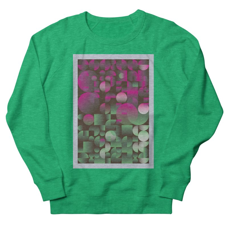 Winter geometric pattern Men's French Terry Sweatshirt by virbia's Artist Shop