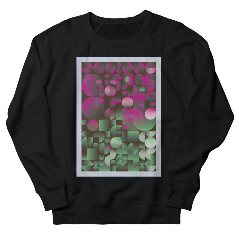 Winter geometric pattern Men's French Terry Sweatshirt by virbia's Artist Shop