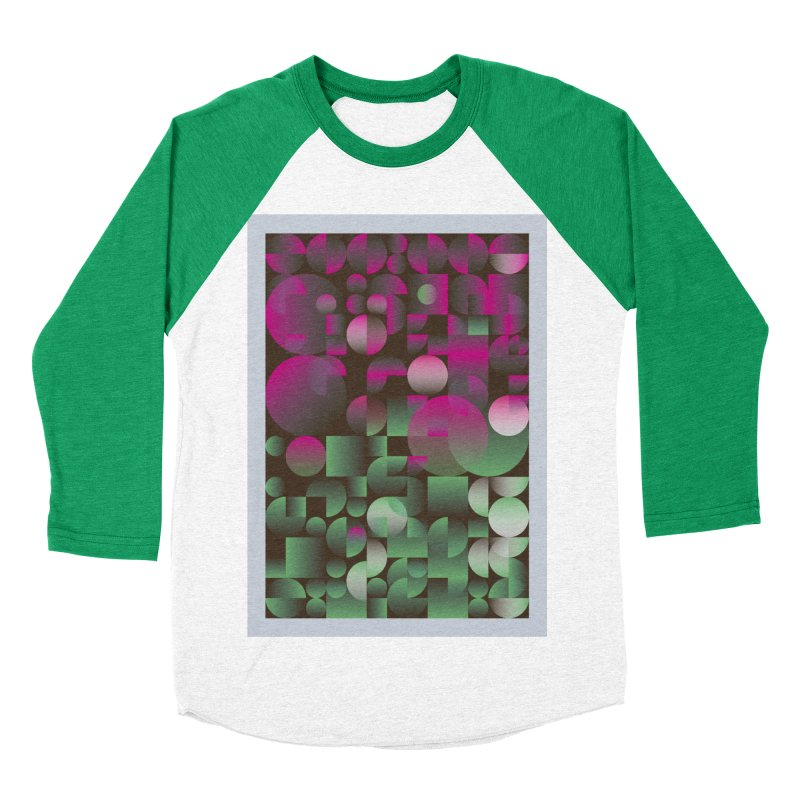 Winter geometric pattern Men's Baseball Triblend Longsleeve T-Shirt by virbia's Artist Shop