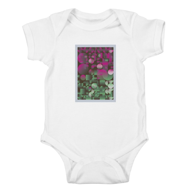 Winter geometric pattern Kids Baby Bodysuit by virbia's Artist Shop