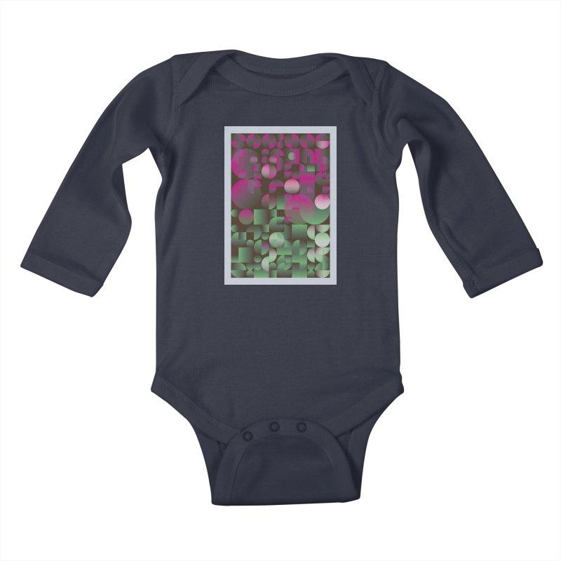 Winter geometric pattern Kids Baby Longsleeve Bodysuit by virbia's Artist Shop