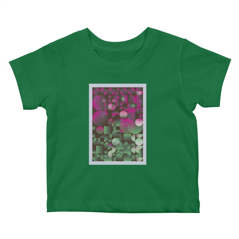Winter geometric pattern Kids Baby T-Shirt by virbia's Artist Shop
