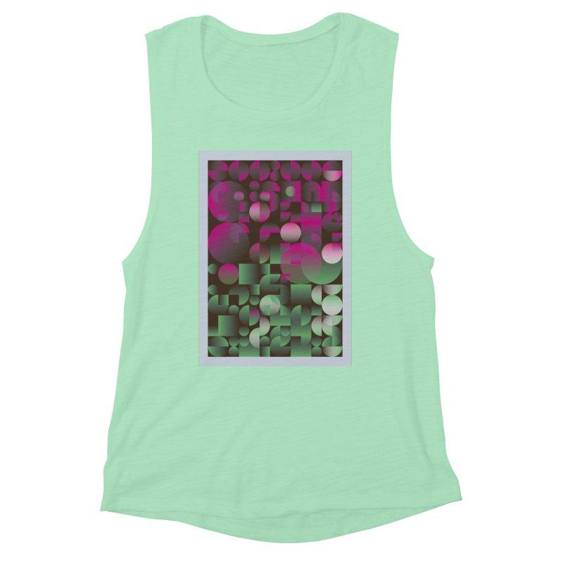 Winter geometric pattern Women's Muscle Tank by virbia's Artist Shop