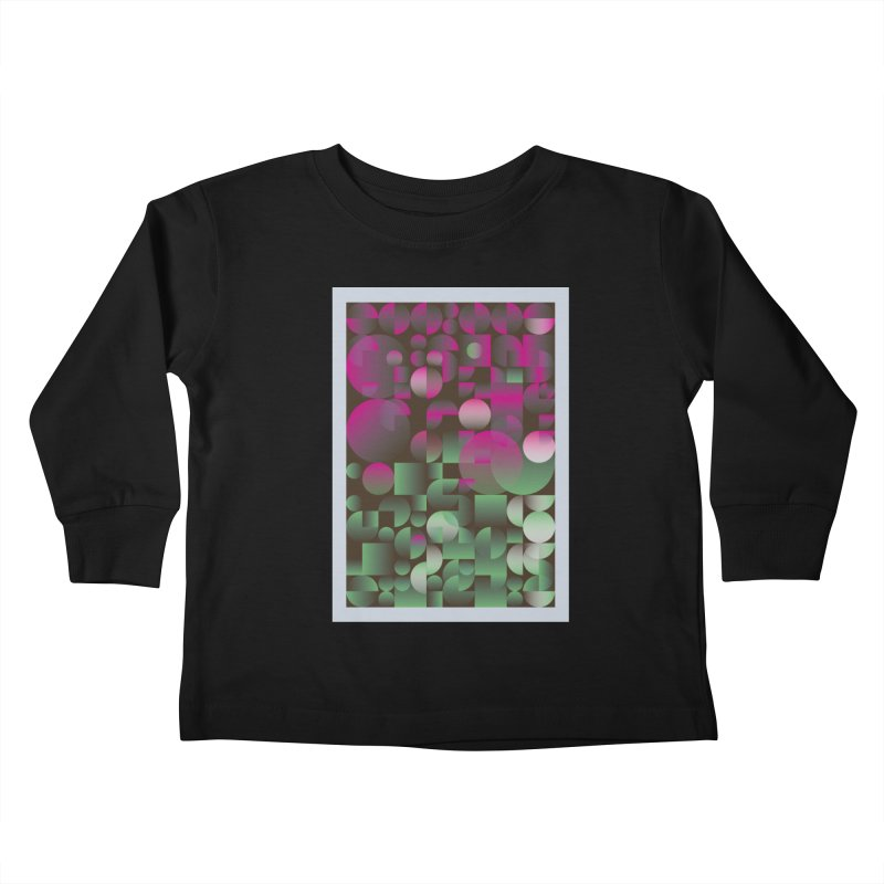 Winter geometric pattern Kids Toddler Longsleeve T-Shirt by virbia's Artist Shop