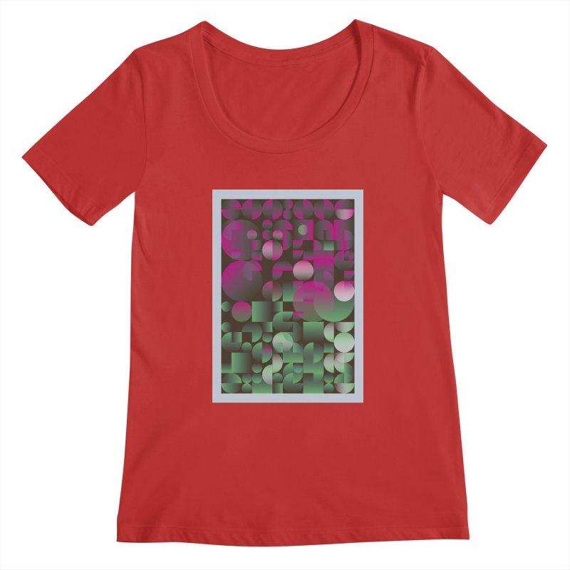 Winter geometric pattern Women's Regular Scoop Neck by virbia's Artist Shop