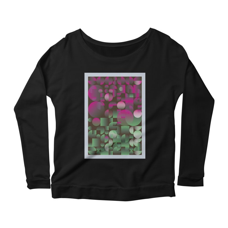 Winter geometric pattern Women's Scoop Neck Longsleeve T-Shirt by virbia's Artist Shop