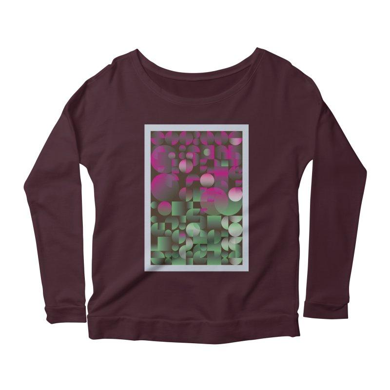 Winter geometric pattern Women's Scoop Neck Longsleeve T-Shirt by virbia's Artist Shop