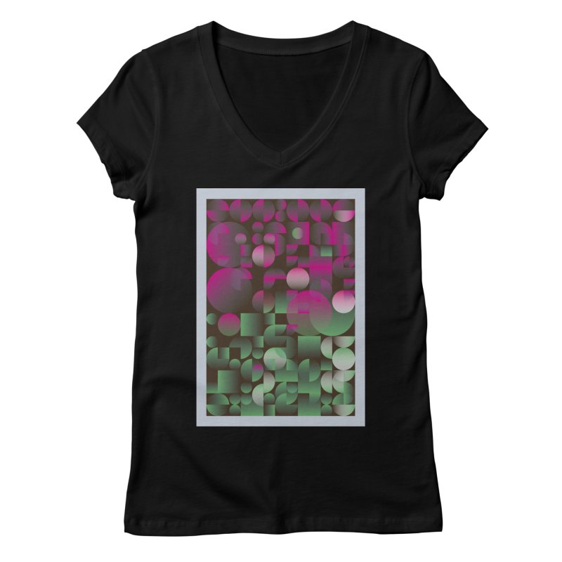 Winter geometric pattern Women's V-Neck by virbia's Artist Shop