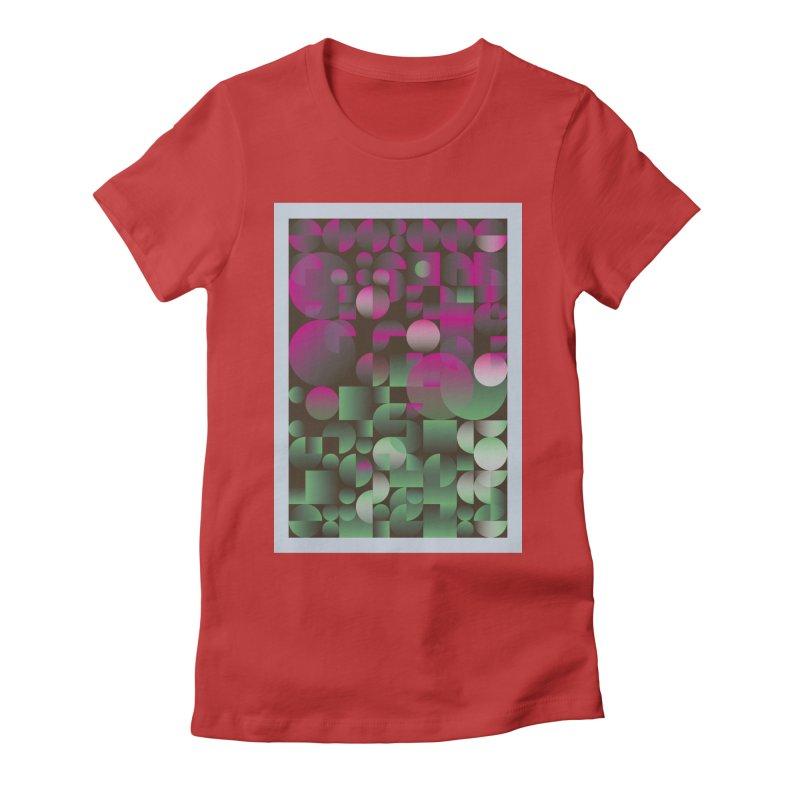 Winter geometric pattern Women's Fitted T-Shirt by virbia's Artist Shop