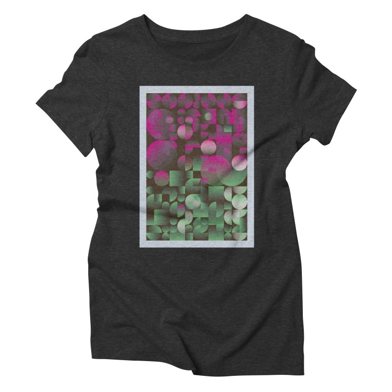 Winter geometric pattern Women's Triblend T-Shirt by virbia's Artist Shop