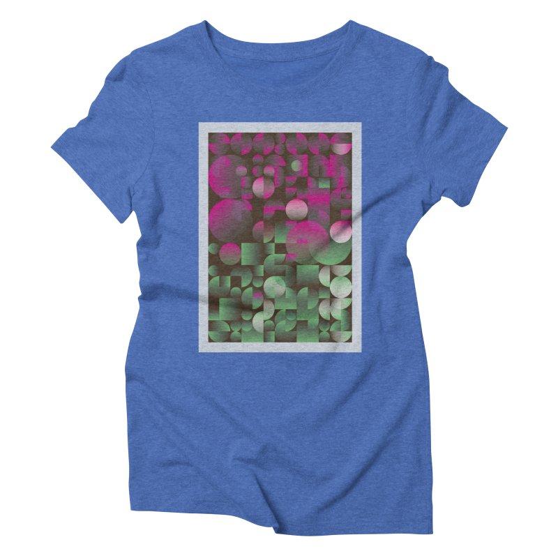 Winter geometric pattern Women's Triblend T-Shirt by virbia's Artist Shop