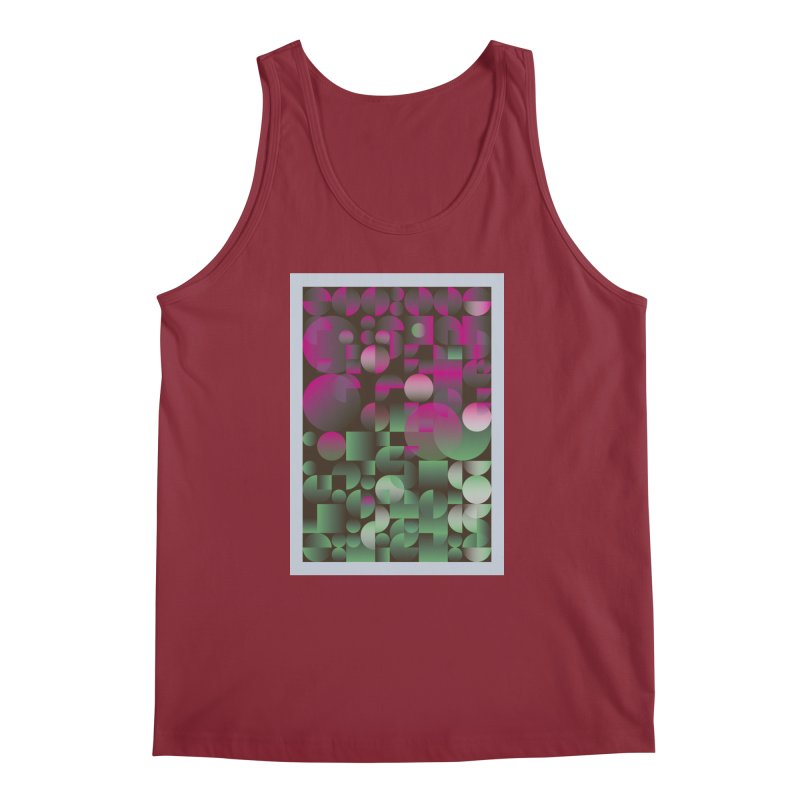 Winter geometric pattern Men's Regular Tank by virbia's Artist Shop