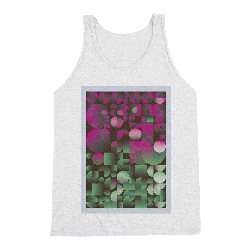 Winter geometric pattern Men's Triblend Tank by virbia's Artist Shop