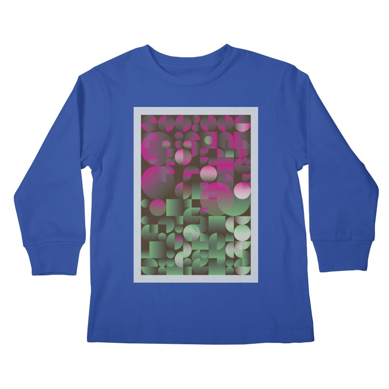 Winter geometric pattern Kids Longsleeve T-Shirt by virbia's Artist Shop