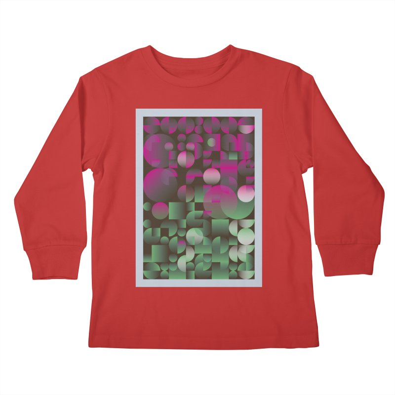 Winter geometric pattern Kids Longsleeve T-Shirt by virbia's Artist Shop