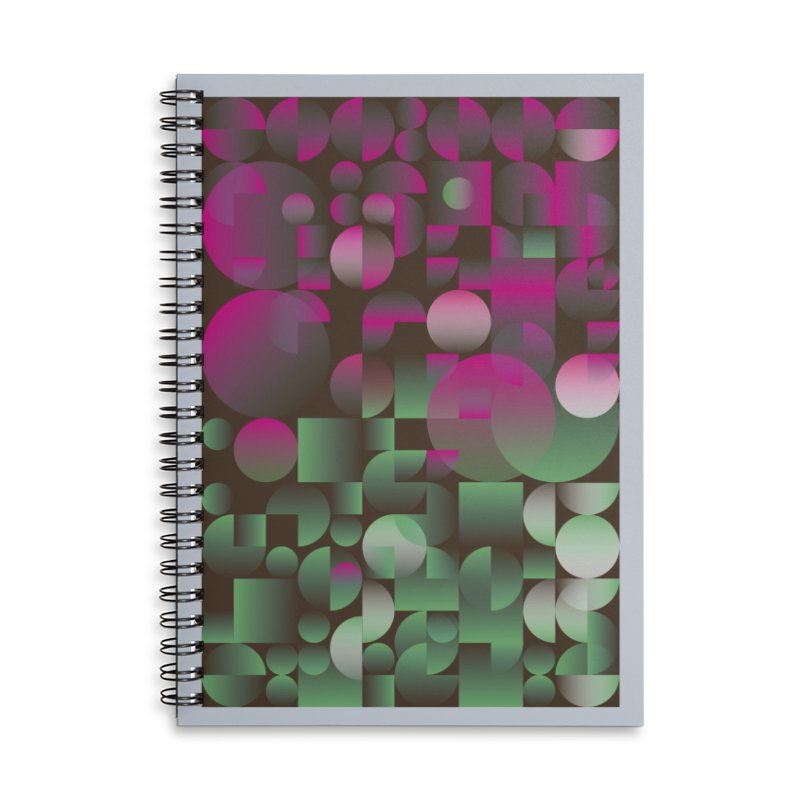 Winter geometric pattern Accessories Lined Spiral Notebook by virbia's Artist Shop