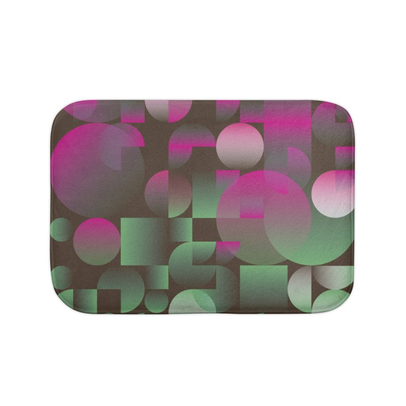 Winter geometric pattern Home Bath Mat by virbia's Artist Shop