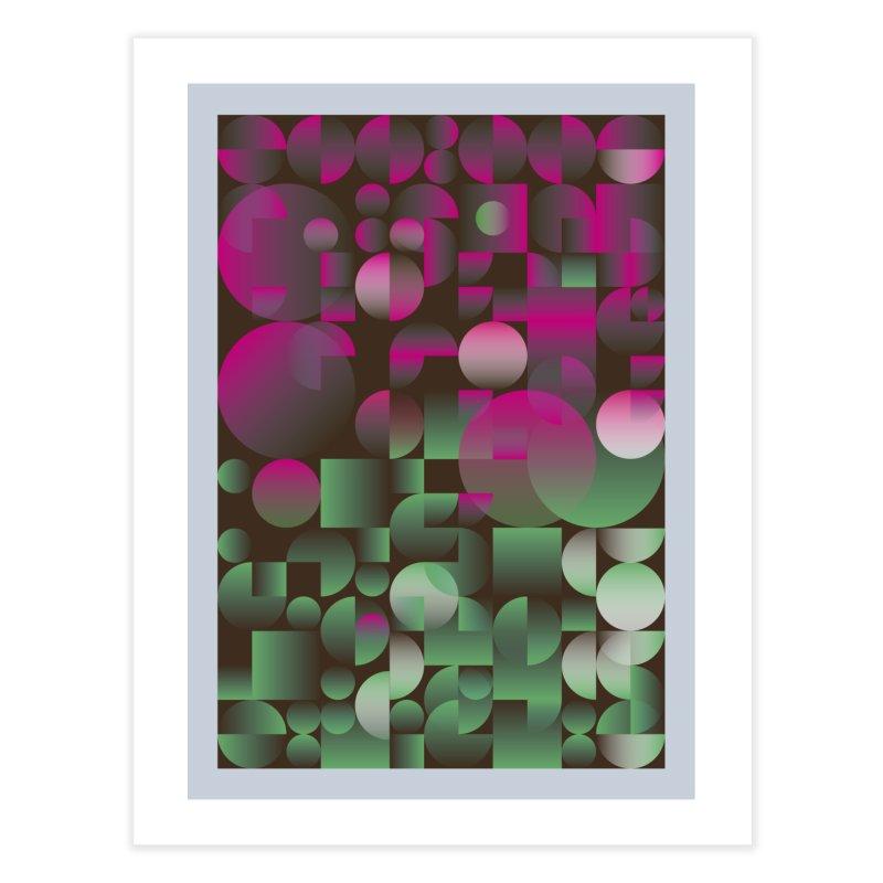 Winter geometric pattern Home Fine Art Print by virbia's Artist Shop