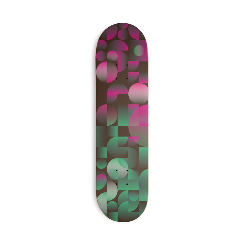 Winter geometric pattern Accessories Skateboard by virbia's Artist Shop