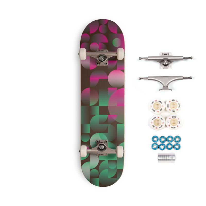 Winter geometric pattern Accessories Complete - Premium Skateboard by virbia's Artist Shop