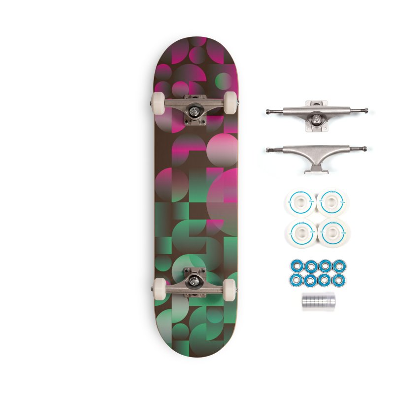 Winter geometric pattern Accessories Complete - Basic Skateboard by virbia's Artist Shop