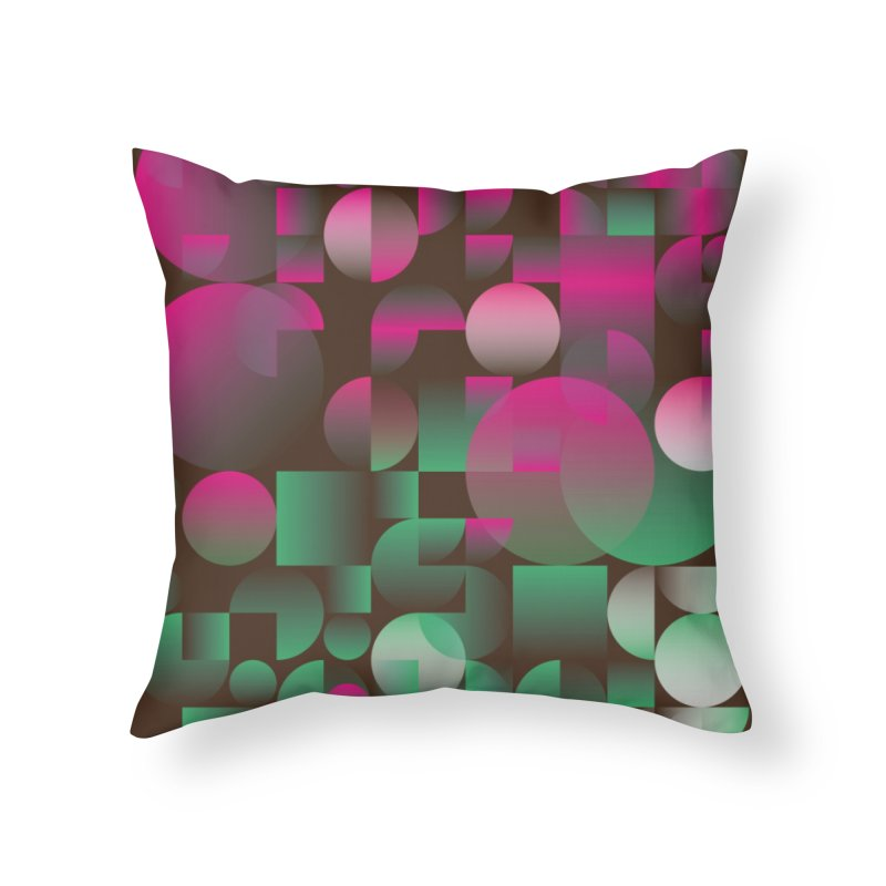 Winter geometric pattern Home Throw Pillow by virbia's Artist Shop