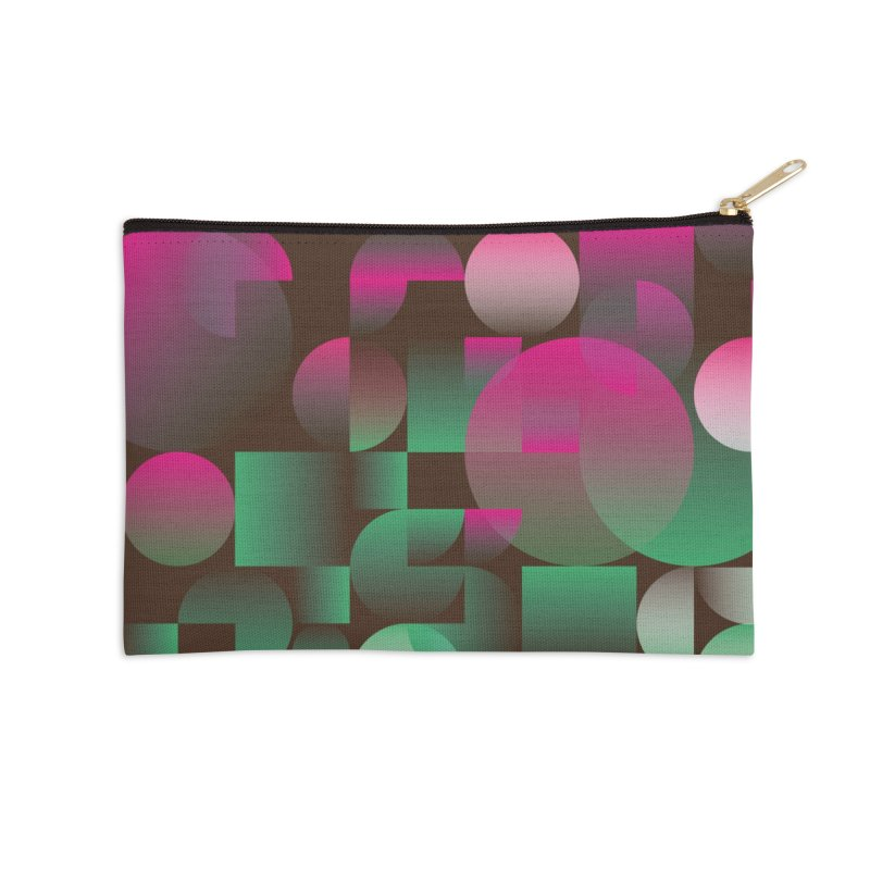 Winter geometric pattern Accessories Zip Pouch by virbia's Artist Shop
