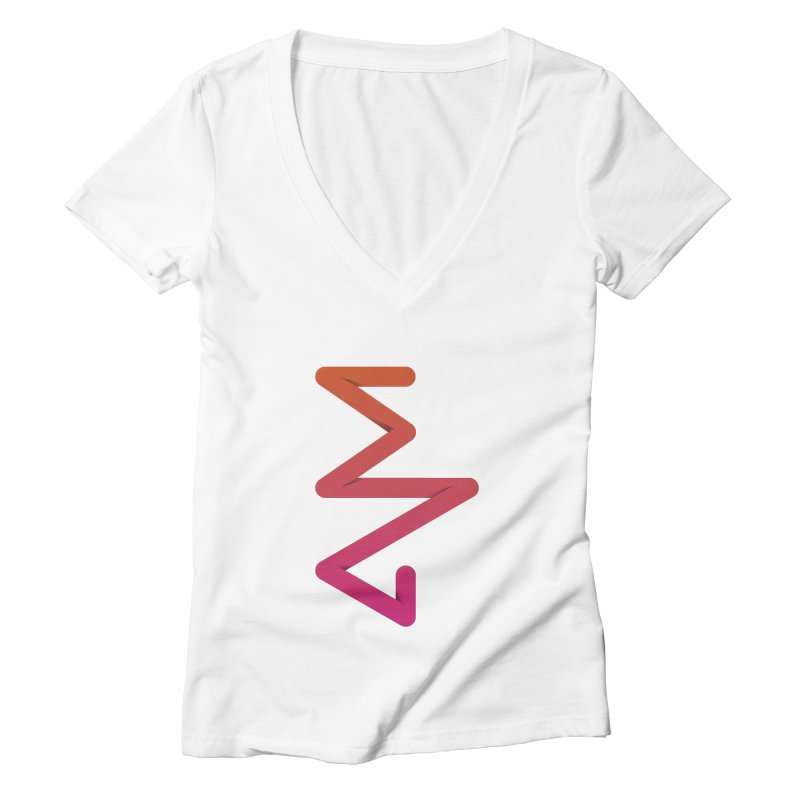Neon X-ray Women's Deep V-Neck V-Neck by virbia's Artist Shop