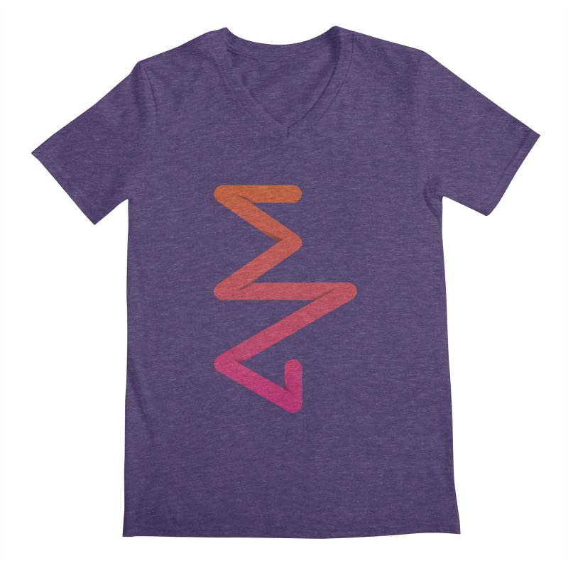 Neon X-ray Men's Regular V-Neck by virbia's Artist Shop