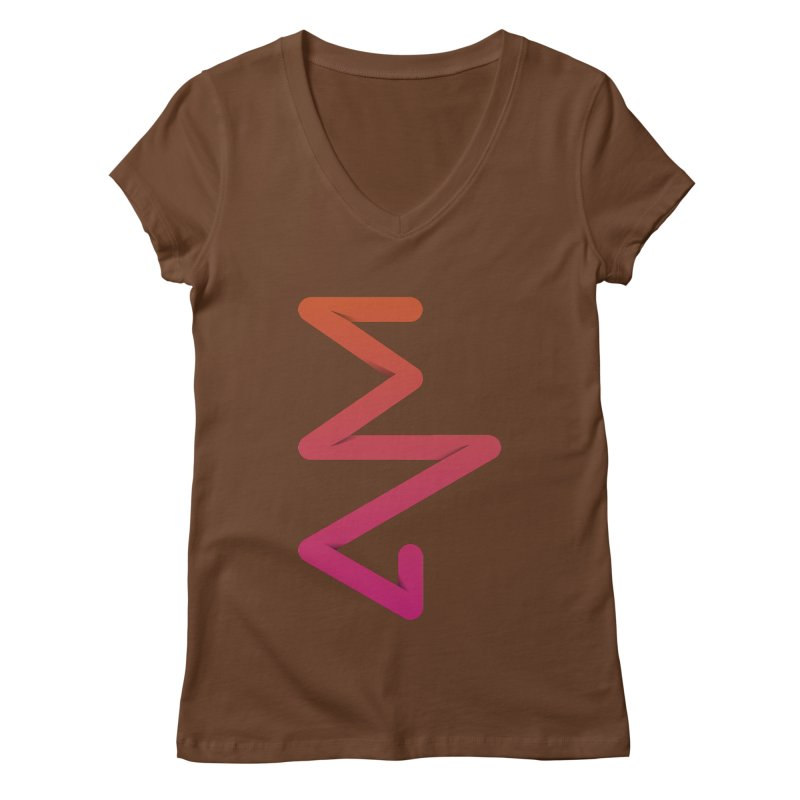 Neon X-ray Women's Regular V-Neck by virbia's Artist Shop